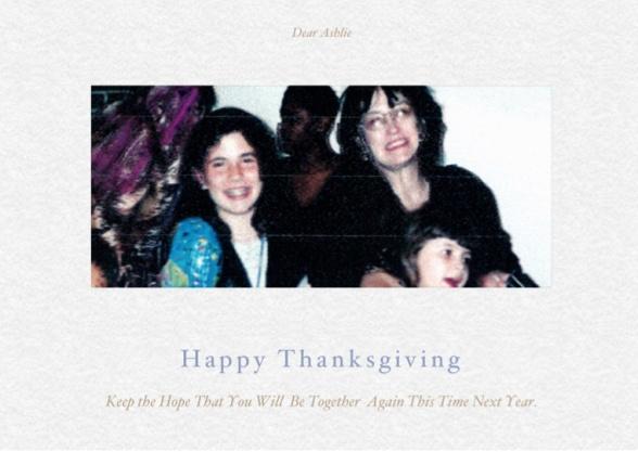 Happy Thanksgiving to Ashlie Mae O'Brien
